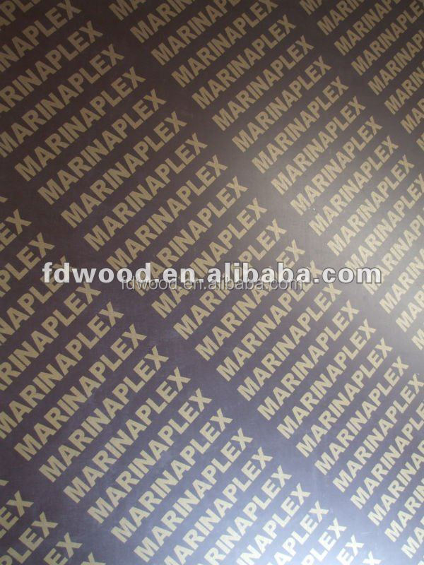 Linyi 1220x2440x18mm finger joint brown and black film faced plywood