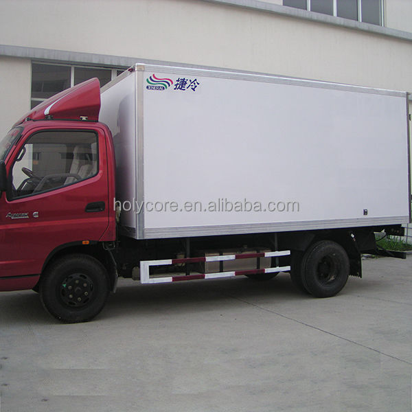 Commercial used refrigerated van and truck in dubai made of pp honeycomb sandwich panel