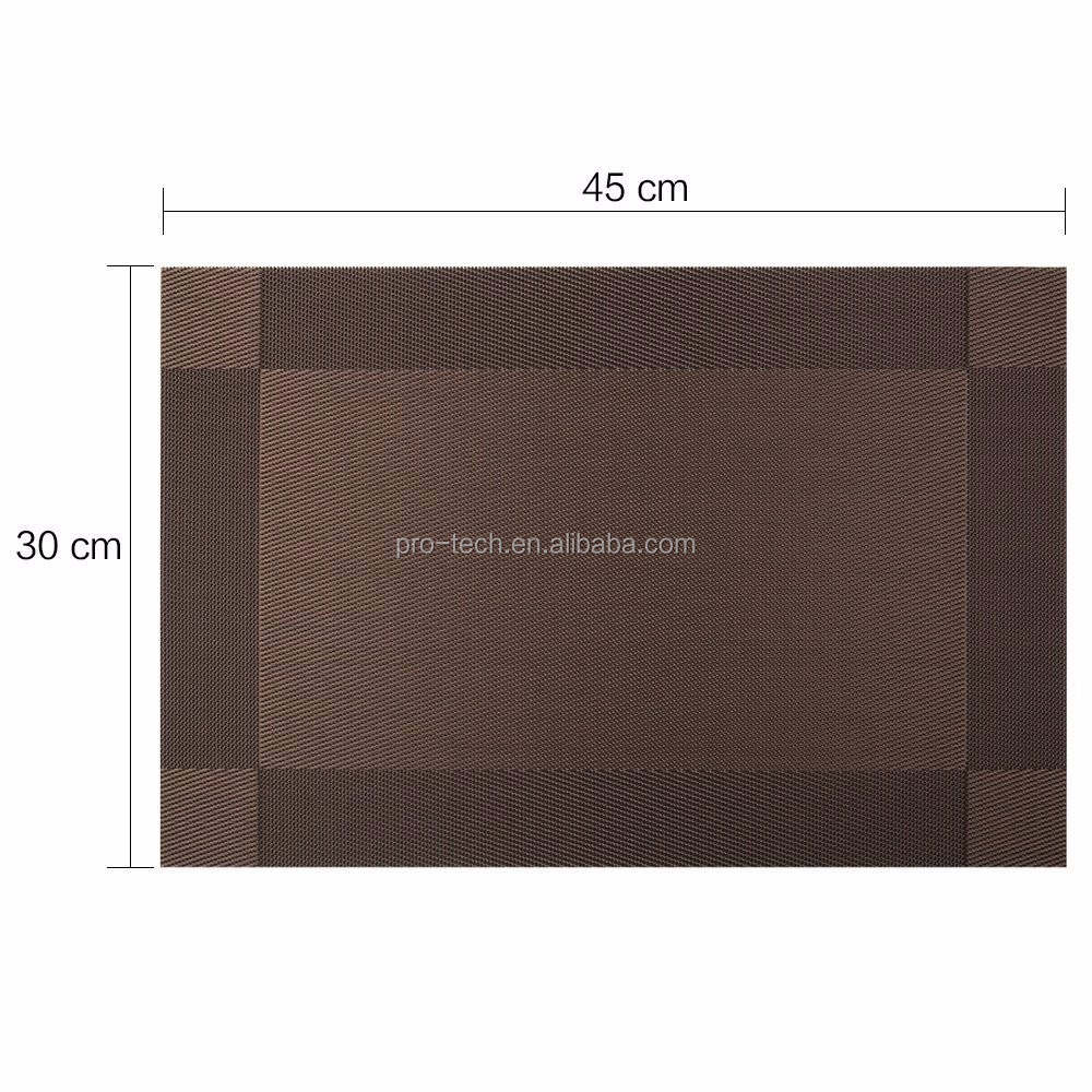Placemats for Dining Table Heat-resistant, Washable Stain-resistant Kitchen PVC Non-slip Insulation Placemats Table Mat