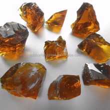 Amber glass cullet for decoration