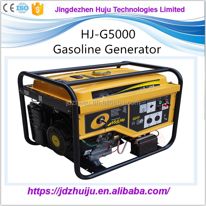 Easy to use portable gasoline generator made in China HJ-G5000