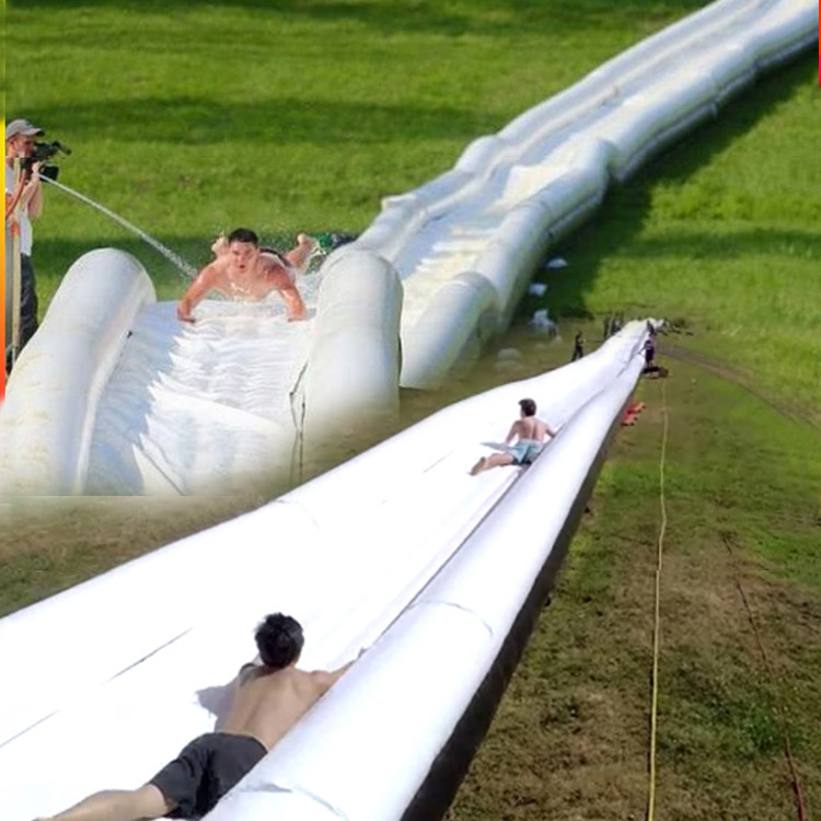The World's Longest waterslide Inflatable Water slide for sale 1000 ft slip n slide inflatable slide the city factory price