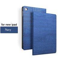 Tree Texture Cover with Magnetic Auto Wake & Sleep Function For iPad Coffee Color Case For 2017 New iPad
