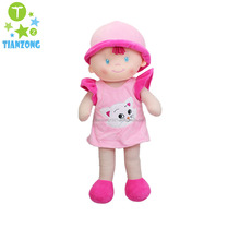 65cm large baby toys emboridered with animal head plush rag dolls