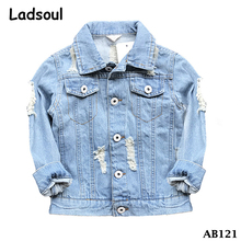 2017 Whosales Spring New Fashion Baby Clothes Embroidery Kids Denim Jacket
