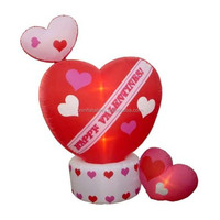 8 Foot Animated Inflatable Valentine's Day Hearts w-Top Heart Rotating/inflatable decoration