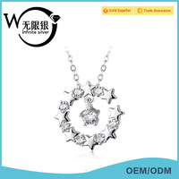 Infinite high quality chains jewelry Stars Necklace 925 Silver Elegant