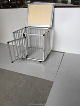 whole sale fold dog cage with wheel