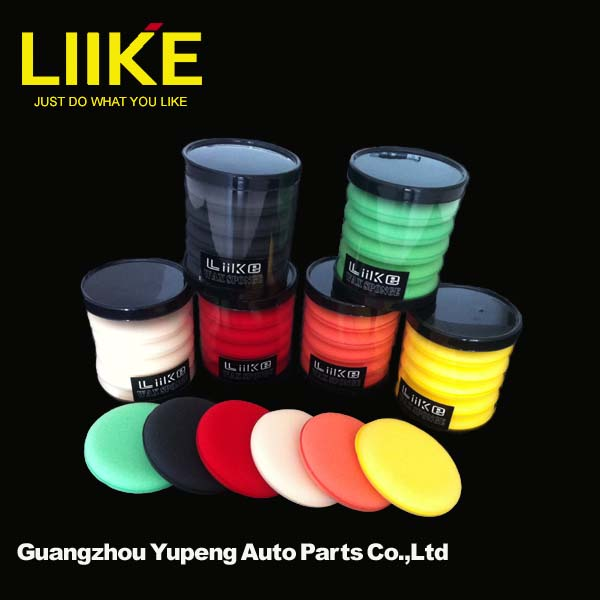 Waxing sponge for auto surface and household