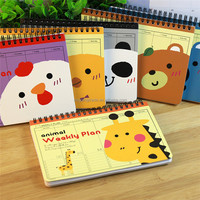 Cute Animal Coil Weekly Plan Notebook