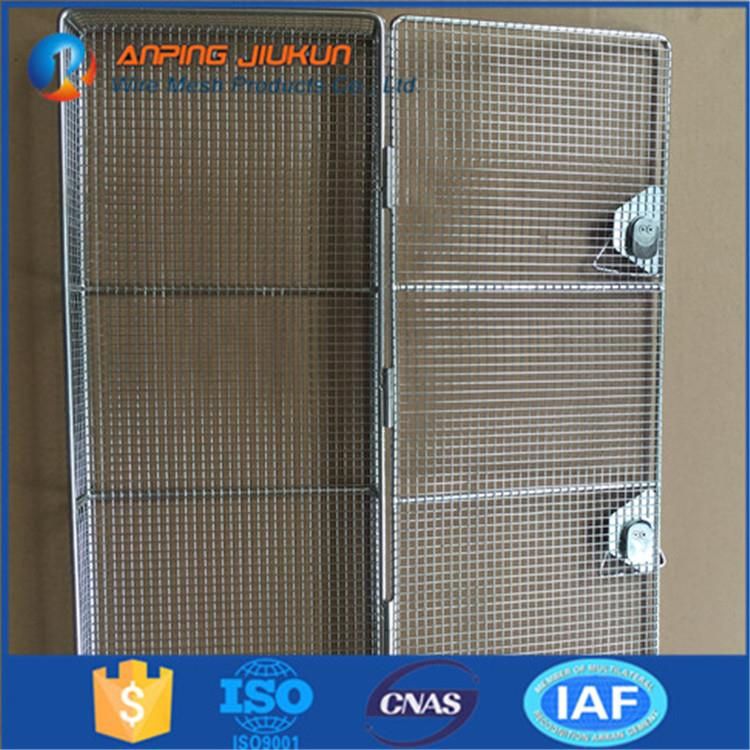 Brand new storage cage with wheels stainless steel perforated mesh basket/metal basket