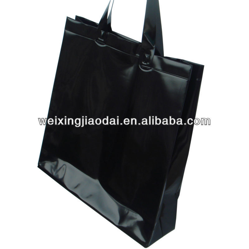 Black Plastic Shopping Bag Beach Bag Tote Towl Bag Handle Bag ...