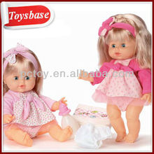 Girl silicone doll for children