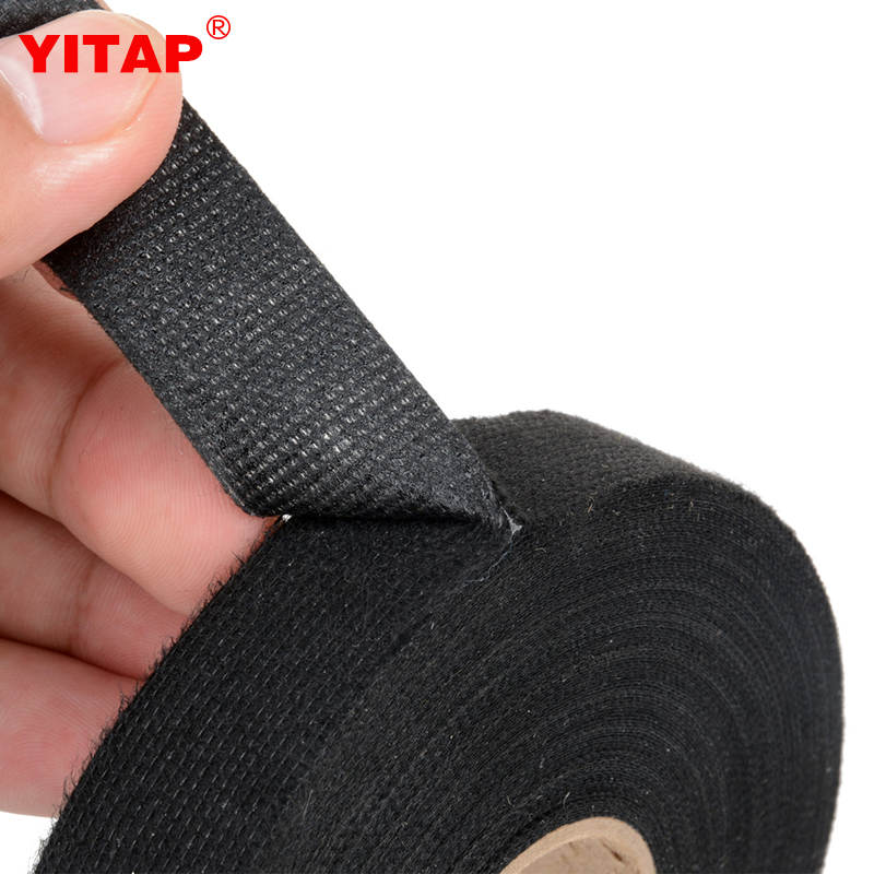 No Residue Automotive Electrical Wire Mesh Harness Cloth Self Adhesive Tape