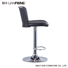 LIANFENG fashionable design high seating pu cushion stainless steel cheap bar stool