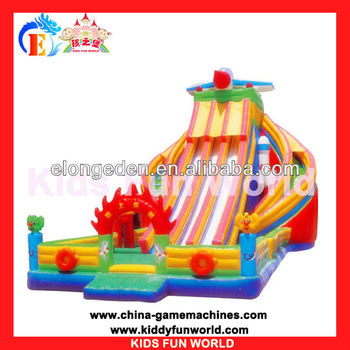 Kids amusement playground inflatable bouncer children's pool with a slide