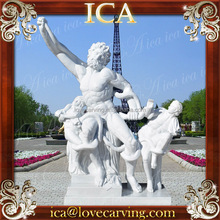 Garden famous natural life-size white marble man statues for sale