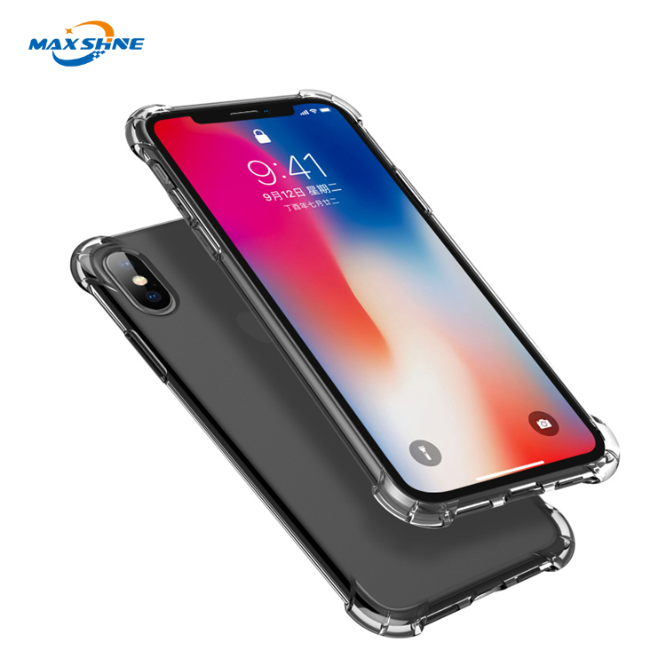 High quality mobile soft tpu shockproof clear phone case for iphone x