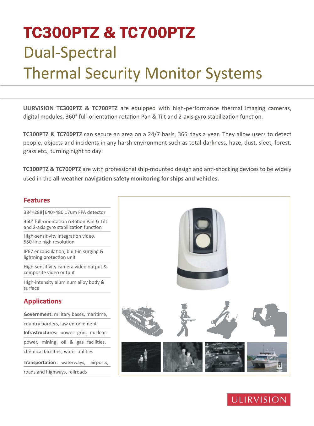 Thermal Security Camera TC300PTZ