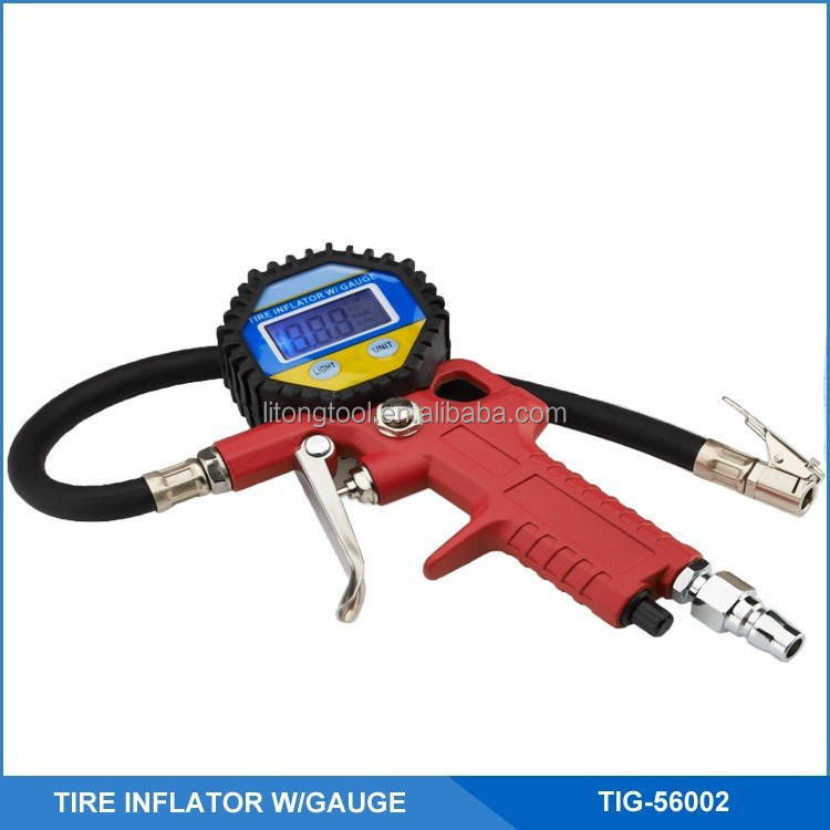Digital tyre inflator with hose, tire tool PG-56002
