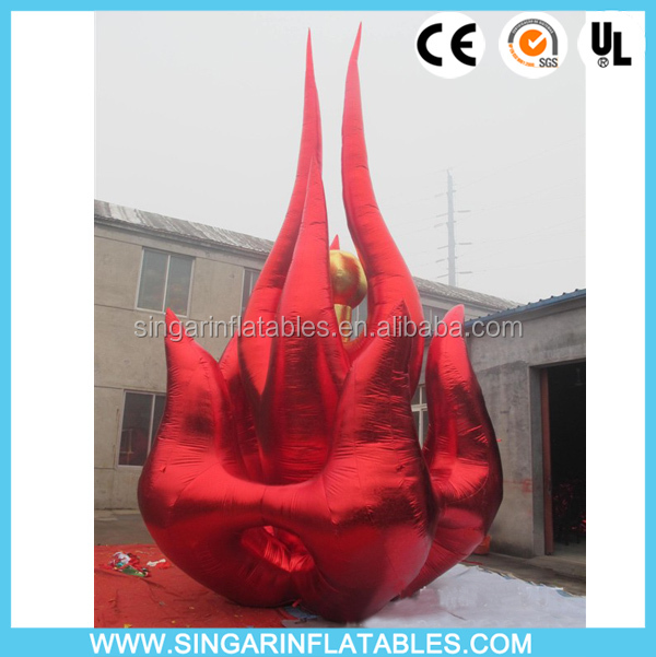 Attracting inflatable flame,giant inflatable fire,inflatable fire flame decoration