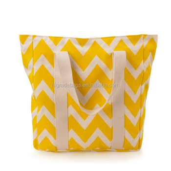 chevron cotton canvas bag printing