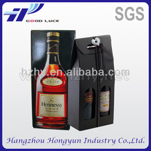 Cardboard paper packaging box for wine bottle carrier