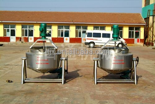 Gas tilting jacketed kettle cooking pot with agitator
