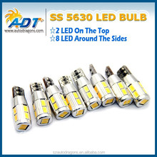 2015 New And Hot Products non-polarity T10CB 5630 auto led lamps, AC12V 10leds white red yellow car led bulbs