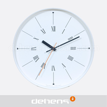 12 inch white Vaulted glass clock for promoption