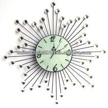 hotsale custom cheap fine design metal art wall bird sound clock