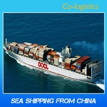 sea freight container shipping rates from china to USA