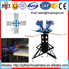 China new design Manual 4 color silk screen printing machine