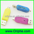 2014 Newest!!! Micro OTG/USB Multi-Function USB TF Card Reader For Samsung Tab