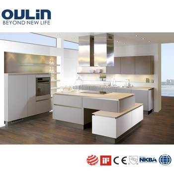 2018 white lacquer kitchen cabinets with islands benchtop