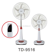 12V 16 inch Solar/Battery Operated Rechargeable Fan Air Cooling Stand Fan