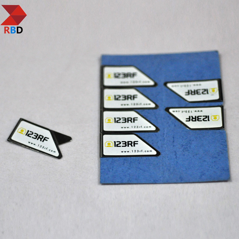 18*35 mm metal paper clip with customer logo