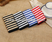 TWIN COLOR ZEBRA STRIPE FOLIO PU LEATHER CASE COVER FOR APPLE IPHONE 5C NEW