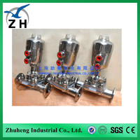 pneumatic diaphragm operated valve used for Food Equipment
