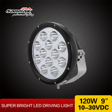 "Sanmak High Power LED Driving Lights 120 watt Cree 9 inch LED 9"" Car Light"