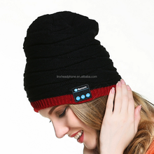Christmas Gift Knitting Bluetooth Beanie Hat With Headphone