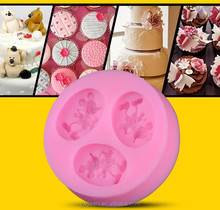 Popular vivid mouse shape silicone fondant mold for making soap and baking cake