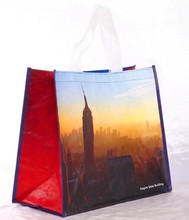 2015 new fashion scenery print jumbo pp woven shopping packaging bags