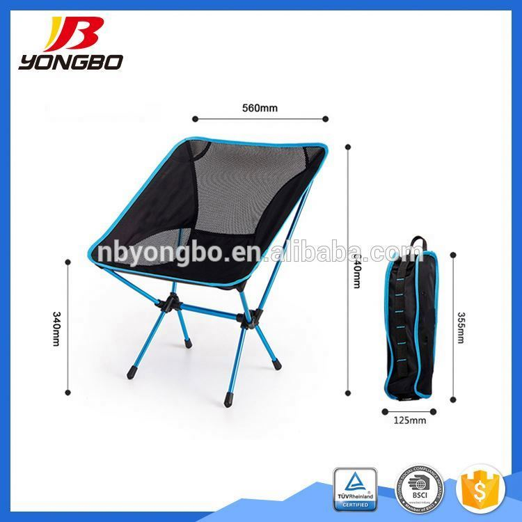 OEM ODM factory 600d fabric foldable lightweight camping chairs