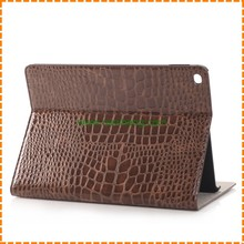 Wholesale crocodile pattern PU leather case for iPad air 2 , leather cover for ipad air