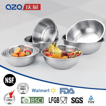 9pcs durable and easy to clean stainless steel soup bowl ,salad bowl set