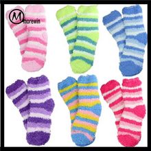 Morewin 2016 fashion Kids Fuzzy Socks Fits Ages 3-5 Mix Match Colorful Striped