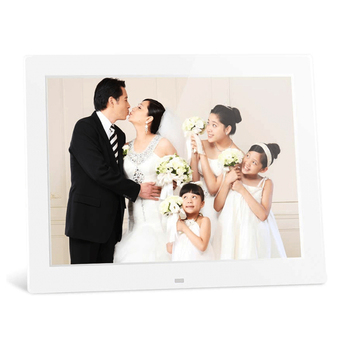 Ips panel digital photo frame 12 inch digital photo / pic / video frame