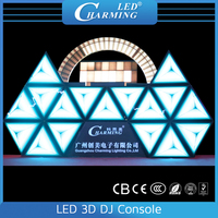Dj Booth,LED 3D DJ Console,LED Triangle Video Wall