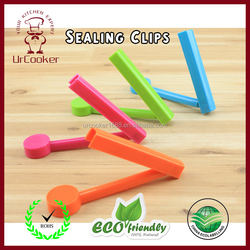 Wholesale Home Kitchen Colorful Food Plastic Bag Seal Sealing Clip Clamp Sealer With date